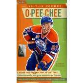2017/18 Upper Deck O-Pee-Chee Hockey Hobby 12 Box Case