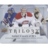 2017/18 Upper Deck Trilogy Hockey Hobby 10 Box Case