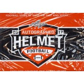 2017 Leaf Autographed Full Sized Helmet Football 4 Box Case