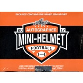 2017 Leaf Autographed Mini Helmet Football 8 Box Case