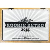 2017 Leaf Rookie Retro 4 Box Case