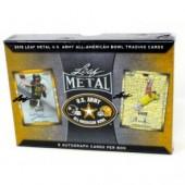 2018 Leaf Metal US Army All-American Bowl Football 15 Box Case