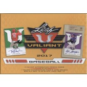 2017 Leaf Valiant Baseball Hobby 10 Box Case