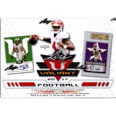 2017 Leaf Valiant Football Hobby 12 Box Case