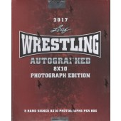 2017 Leaf Wrestling Signed 8x10 Photograph Ed Box