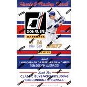 2017 Panini Donruss Baseball Hobby 16 Box Case
