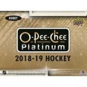 2018/19 O-Pee-Chee Platinum Hockey Hobby 16 Box Case