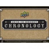 2018/19 Upper Deck Chronology Hockey Hobby 8 Box Case