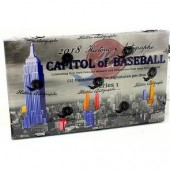 2018 Historic Autographs Capitol of Baseball Series 1 Baseball 10 Box Case