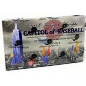 2018 Historic Autographs Capitol of Baseball Series 1 Baseball Box
