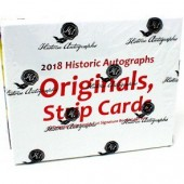 2018 Historic Autographs Originals Strips Baseball 10 Box Case