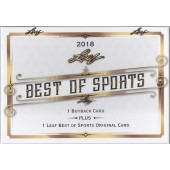 2018 Leaf Best of Sports 10 Box Case