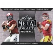 2018 Leaf Metal Draft Football Hobby Box