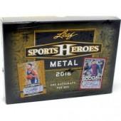 2018 Leaf Metal Sports Heroes Hobby 20 Box Case