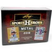 2018 Leaf Metal Sports Heroes Jumbo 12 Box Case