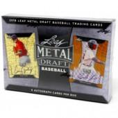 2018 Leaf Metal Draft Baseball Hobby 12 Box Case