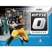 2018 Panini Donruss Optic Football Hobby 12 Box Case