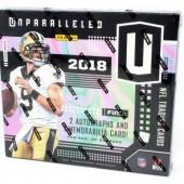 2018 Panini Unparalleled Football Hobby 16 Box Case
