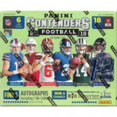 2018 Panini Contenders Football 1st Off The Line Hobby Box