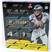2018 Panini Playbook Football Hobby 16 Box Case