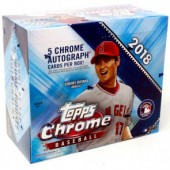 2018 Topps Chrome Baseball Jumbo HTA 8 Box Case