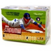 2018 Topps Stadium Club Baseball Blaster 16 Box Case