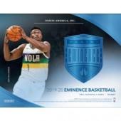 2019/20 Panini Eminence Basketball Hobby Case
