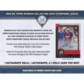 2019/20 Topps UEFA Champions League Museum Collection Soccer Box