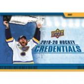 2019/20 Upper Deck Credentials Hockey Hobby 10 Box Case