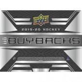 2019/20 Upper Deck Buybacks Hockey 5 Box Case