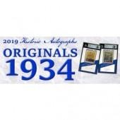 2019 Historic Autographs Originals 1934 Baseball 10 Box Case