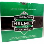 2019 Leaf Autographed Full Sized Helmet Football 3 Box Case