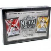 2019 Leaf Metal Draft Football Hobby Box