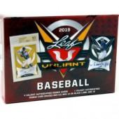 2019 Leaf Valiant Baseball Hobby 12 Box Case