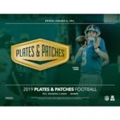 2019 Panini Plates & Patches Football Hobby Box