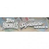 2019 Topps Archives Signature Series Baseball 20 Box Case