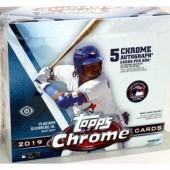 2019 Topps Chrome Baseball Jumbo HTA Box