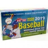 2019 Topps Heritage High Number Baseball Hobby 12 Box Case