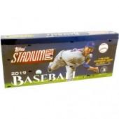 2019 Topps Stadium Club Baseball Hobby 16 Box Case