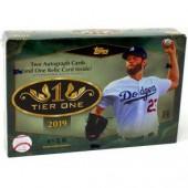2019 Topps Tier One Baseball Hobby 12 Box Case