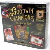 2019 Upper Deck Goodwin Champions Hobby 8 Box Case