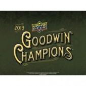 2019 Upper Deck Goodwin Champions Hobby 16 Box Case