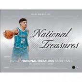 2020/21 Panini National Treasures Basketball Hobby 4 Box Case