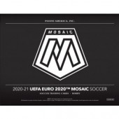 2020/21 Panini Mosaic UEFA Euro Soccer Hobby 12 Box Case