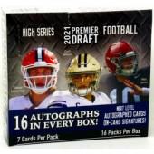 2021 Sage Hit High Series Football Hobby 16 Box Case