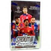 2020/21 Topps UEFA Champions League Stadium Club Chrome Soccer Hobby 12 Box Case