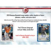 2020 Bowman Baseball Jumbo HTA 8 Box Case