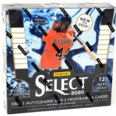 2020 Panini Select Baseball Hobby 12 Box Case