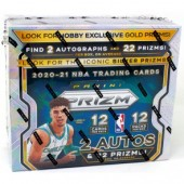 2020/21 Panini Prizm Basketball Hobby 12 Box Case
