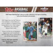 2020 Topps Opening Day Baseball Hobby 20 Box Case